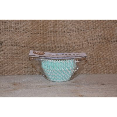 Cupcake Cups Chevron Mint 50st
