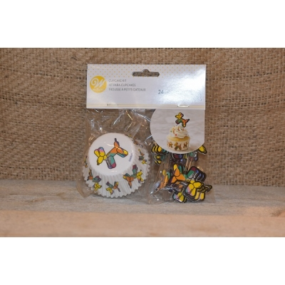 Cupcake Cups Ballon Hond set/48